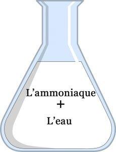 L'ammoniaque et l'eau